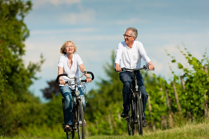 Mes parents font du vélo à plus de 75-ans