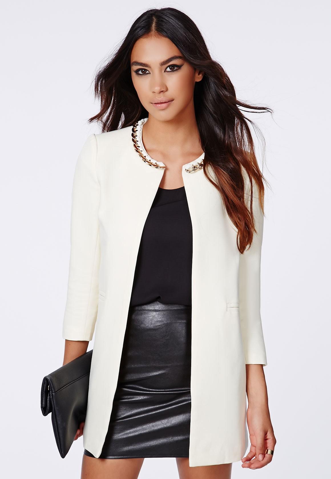 Manteau sans col