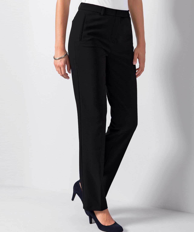 Pantalon coupe droite femme, idéal pour le bureau