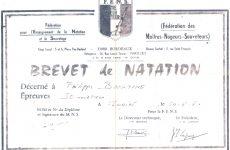 brevet natation 50m