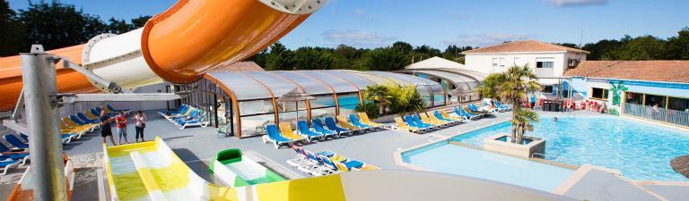 Camping ile d 39 ol ron avec piscine et toboggan - Camping en ardeche avec piscine et toboggan ...
